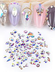 Недорогие -50шт смешанные кристаллы ногтей алмазный камень страз ab стекло стразы для 3d ногтей художественные оформления поставки ювелирных изделий