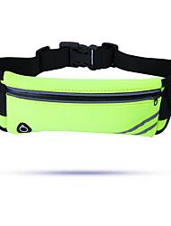 Недорогие -Универсальные Молнии Нейлон Поясная сумка Контрастных цветов Пурпурный / Зеленый / Небесно-голубой