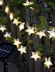 Недорогие -5 метров Гирлянды 20 светодиоды EL 1 монтажный кронштейн 1 комплект Тёплый белый / RGB Рождество / Новый год Работает от солнечной энергии Солнечная энергия