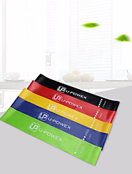 cheap -Resistance Loop Exercise Bands 5 pcs Sports Latex silk Home Workout Exercise & Fitness Gym Workout Portable Non Toxic Durable Muscular Bodyweight Training Resistance Training Strength Trainer For Men