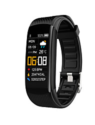 cheap -C5S Unisex Smart Wristbands Bluetooth Heart Rate Monitor Blood Pressure Measurement Sports Calories Burned Blood Oxygen Monitor Stopwatch Pedometer Call Reminder Sleep Tracker Sedentary Reminder
