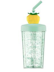 Недорогие -новинка вращающийся соломенный напиток чашка фрукт форма лето ледяной гель пластиковая чашка 270мл
