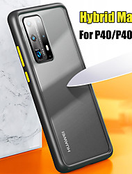 cheap -Hybrid Matte Translucent Hard PC Back Cover Phone Case For Huawei P40 Pro P40 Lite P Smart Z P30 Lite Y9 2019 P20 Lite 2019 P30 Pro P20 Pro Honor 20 9X Mate 30 Pro Mate 20 Soft TPU Edge Protection