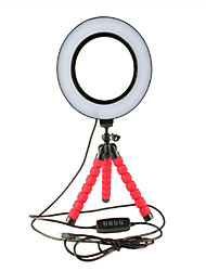 cheap -LED Selfie Ring Light Dimmable With Cradle Head Mini Flexible Sponge Octopus Tripod Stand For Makeup Video Live Studio Photograp