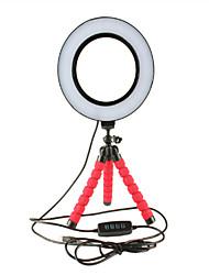 Недорогие -светодиодные селфи кольцо с возможностью затемнения с колыбелью мини гибкая губка осьминога штатив стенд для макияжа видео в прямом эфире студия фотографии