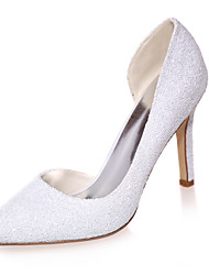 cheap -Women's Wedding Shoes Stiletto Heel Pointed Toe Minimalism Wedding Party & Evening Synthetics Solid Colored Summer White