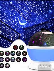 cheap -Baby & Kids' Night Lights Moon Star Starry Night Light LED Lighting 360° Rotation Glow 6 V USB Batteries Powered Kid's Adults for Birthday Gifts and Party Favors  1 pcs