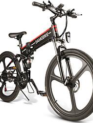 Недорогие -Samebike lo26 умный складной электрический мопед велосипед 26 дюймов надувная резиновая шина 500 Вт мотор максимальная скорость 30 км / ч 10ah литиевая батарея макс. нагрузка 150 кг двойной дисковый