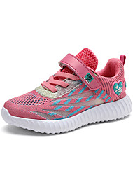 cheap -Girls' Comfort Knit Trainers / Athletic Shoes Little Kids(4-7ys) / Big Kids(7years +) Running Shoes / Walking Shoes Black / Purple / Pink Summer / Fall / Color Block / Rubber