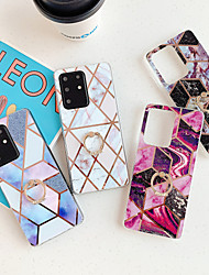 cheap -Case for Samsung S20 S20plus note10 note10pro splicing marble plating process TPU material ring bracket smooth beautiful mobile phone case