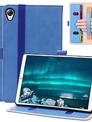 """Недорогие -Кейс для Назначение Таблетки Huawei MediaPad M6 8,4 """" Бумажник для карт / Защита от удара Чехол Однотонный Кожа PU"""