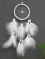 cheap -Boho Dream Catcher Handmade Gift Wall Hanging Decor Art Ornament Craft Feather Bead 45*11cm for Kids Bedroom Wedding Festival