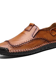 cheap -Men's Summer Outdoor Loafers & Slip-Ons PU Non-slipping Yellow / Brown / Black
