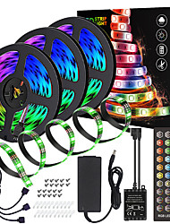 cheap -15M(3x5M) High-Quality Black PCB Music Timing Synchronous Control Waterproof Flexible Light Bar 5050 RGB IR 40 Key Controller with12V 6A Adapter Kit