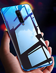 cheap -Ultra-thin Clear Transparent Plating Soft TPU Phone Case For OnePlus 8 Pro OnePlus 7 Pro OnePlus 6T One Plus 7T One Plus 6 Slim Silicone Bumper Shockproof Protection Back Cover