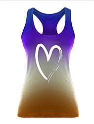Недорогие -Жен. Геометрический принт Безрукавка Круглый вырез Повседневные Лето Синий Лиловый Желтый Пурпурный Тёмно-синий S M L XL 2XL 3XL 4XL 5XL