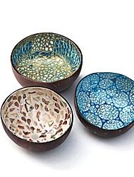 cheap -Storage Tray Coconut Shell Bowl Shell Coconut Bowl Imported Home Decoration Storage Salad Bowl 13.5x5.7cm