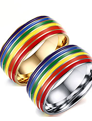 cheap -Ring Rainbow Steel Stainless For LGBT Pride Cosplay Men's Costume Jewelry Fashion Jewelry / Rings