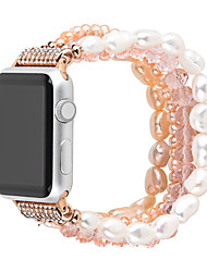 cheap -For Apple Watch Series 5/4/3/2/1 Fashion Pearl Wristband Strap  For iwatch 40mm/44mm/38mm/42mm  Handmade watch bracelet Girls Replacement