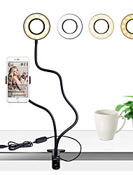 cheap -Photo Studio Selfie LED Ring Light with Cell Phone Mobile Holder for Youtube Live Stream Makeup Camera Lamp for iPhone Android TikTok