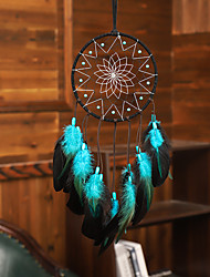 cheap -Led Boho Dream Catcher Handmade Gift Wall Hanging Decor Art Ornament Craft Feather Bead 50*16cm for Kids Bedroom Wedding Festival