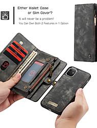 cheap -CaseMe Luxury Business Leather Magnetic Flip Case For iPhone SE2020 / 11 Pro Max / 11 Pro / 11 / Xs Max / XR / Xs / X / 8 Plus / 7 Plus / 6 Plus / 8 / 7 / 6 Wallet Card Slot Detachable Cover