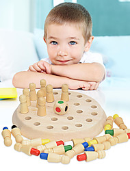cheap -Board Game Educational Toy Wooden Memory Match Stick Chess Game Wooden family game Parent-Child Interaction Family Interaction Home Entertainment Kids Child's Boys and Girls Toys Gifts