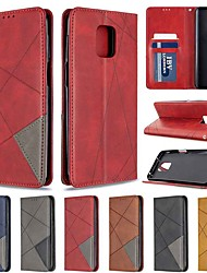 cheap -Case For Xiaomi Redmi Note 8T/Redmi Note 9 Pro Max/CC9 Pro Card Holder / with Stand / Flip Full Body Cases Solid Colored / Geometric Pattern PU Leather For Xiaomi Note 10 Pro/Redmi 8/8A/K30/Note 9S