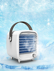 cheap -1pcs Portable Mini Air Conditioner Fan Stepless USB Air Cooler Quick Cooling LED Humidifier Purifier Home Office Desktop Cooler