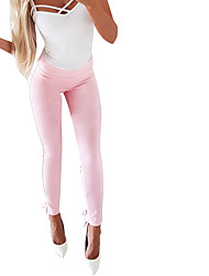 cheap -Women's Basic Loose Chinos Pants - Solid Colored White Blushing Pink S / M / L