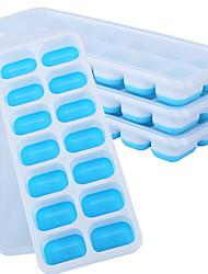 Недорогие -творческий силиконовый лоток для льда с крышкой 4шт пищевой лоток для льда плесень 25.4x9.8x2.9см