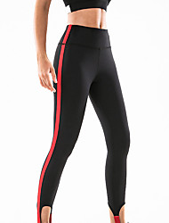 cheap -Women's High Waist Yoga Pants Patchwork Cropped Leggings Butt Lift Breathable Moisture Wicking Black Burgundy Royal Blue Nylon Gym Workout Running Fitness Sports Activewear High Elasticity Skinny