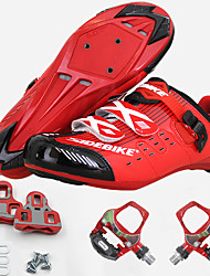 cheap -SIDEBIKE Adults' Cycling Shoes With Pedals & Cleats Road Bike Shoes Carbon Fiber Cushioning Cycling Men's Cycling Shoes / Breathable Mesh