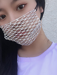 cheap -Alloy Face Chain Mesh Backing For Street Beach Jewelry Accent / Decorative Silver 1 pc / Women's