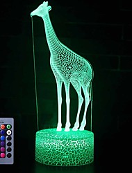 cheap -Giraffe 3D Night Light Table Desk Optical Illusion Lamps 16 Color Changing Lights