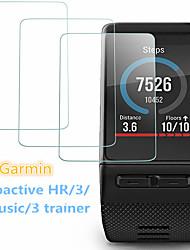 Недорогие -Защитная пленка для ПК 3 шт. Для garmin vivoactive hr / 3 тренажера / 3 музыки / 3 закаленного стекла прозрачный высокой четкости (hd), устойчивый к царапинам / твердость 9 ч