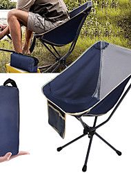 cheap -Camping Chair Portable Breathable Ultra Light (UL) Foldable Oxford Cloth Ultra light Aluminium Breathable Mesh for Fishing Beach Camping Travel Autumn / Fall Spring Camouflage Blue Dark Navy Army