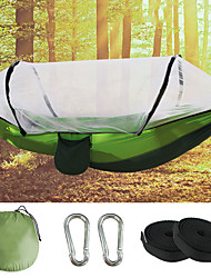 cheap -Camping Hammock with Pop Up Mosquito Net Outdoor Portable Breathable Anti-Mosquito Ultra Light (UL) Wearable Parachute Nylon with Carabiners and Tree Straps for 2 person Camping / Hiking Hunting