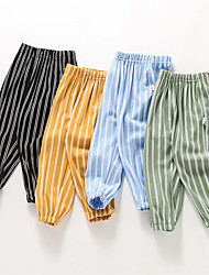 cheap -Kids Toddler Boys' Basic Black Blue Striped Print Pants Black