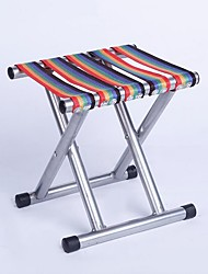 cheap -Mazar 40 Round Tube Rivet Outdoor Convenient Stool Iron Mazar Military Mazar Train Small Bench Folding Stool