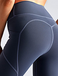 cheap -Women's High Waist Yoga Pants Side Pockets Cropped Leggings Butt Lift 4 Way Stretch Breathable Dark Grey Black Green Nylon Non See-through Gym Workout Running Fitness Sports Activewear High Elasticity