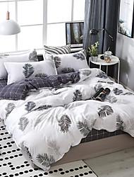 Недорогие -простой ветер лист печати шаблон постельное белье из четырех частей пододеяльник простыня наволочка общежитие одноместный двухместный