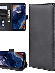 cheap -For Nokia 9 PureView Wallet Stand Leather Cell Phone Case with Wallet & Holder & Card Slots
