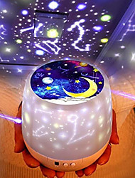 cheap -Baby & Kids' Night Lights Moon Star Starry Night Light LED Lighting Light Up Toy Constellation Lamp Star Projector Glow USB Batteries Powered Kid's Adults for Birthday Gifts and Party Favors  1 pcs