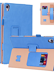 """Недорогие -Кейс для Назначение Таблетки Huawei MediaPad M6 10,8 """" Бумажник для карт / Защита от удара Чехол Однотонный Кожа PU"""