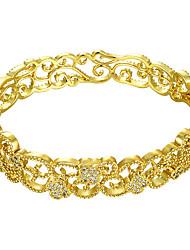 cheap -Women's Cubic Zirconia Bracelet Bangles Classic Fashion Fashion 18K Gold Plated Bracelet Jewelry Gold For Anniversary Party Evening / Imitation Diamond