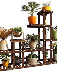 cheap -Solid wood mobile put meaty shelves living room garden balcony rack floor small apartment multi-layer space saving