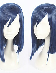 cheap -Cosplay Wig Ichigo Amano Hina Darling in the Franxx Straight Asymmetrical Wig Short Blue Synthetic Hair 14 inch Women's Anime Cosplay Cool Blue