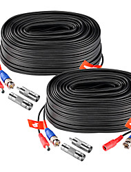 cheap -ZOSI 2PCS 100ft (30m) AHD-TVI BNC Video Male DC Power Jack Male/Female Extension Cable for CCTV Security Surveillance Camera