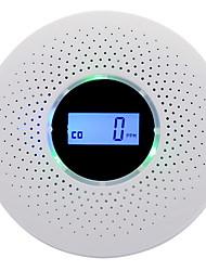 Недорогие -новейший 2 в 1 светодиодный цифровой газ дымовая сигнализация co детектор угарного газа голос предупреждающий датчик домашней безопасности защита высокая чувствительность